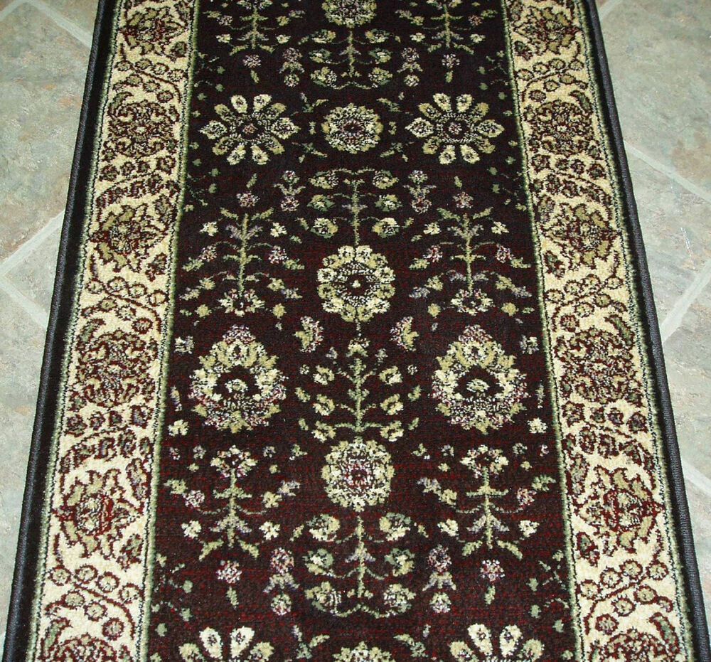"Rug Runner Rug: Rug Depot Carpet Stair Runner Remnant 26"" X 26' Brown"