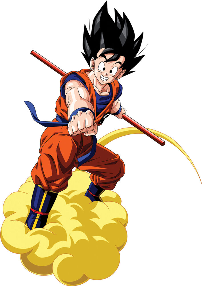 sticker poster manga dragon ball z sangoku nuage magique. Black Bedroom Furniture Sets. Home Design Ideas