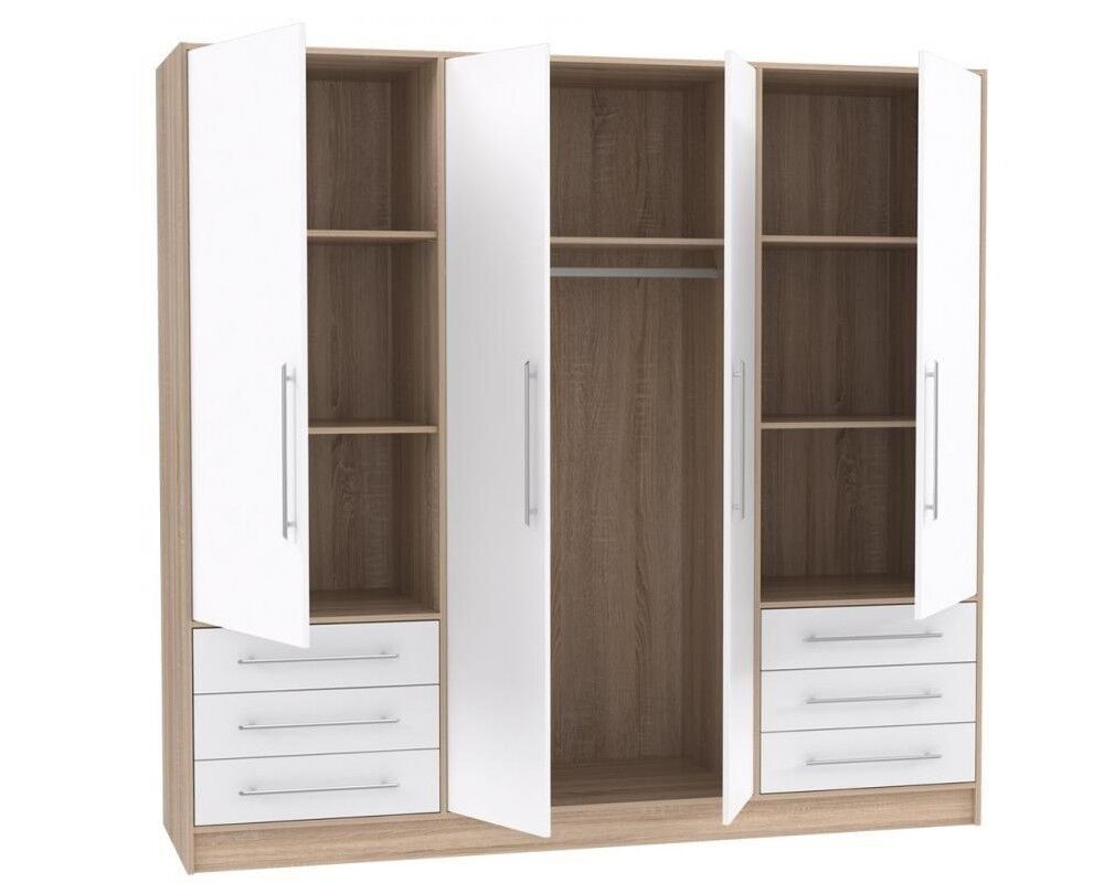 begehbarer eckkleiderschrank eckschrank kleiderschrank young ebay. Black Bedroom Furniture Sets. Home Design Ideas