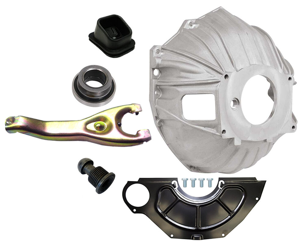 New Chevy Bellhousing Kit Cover Clutch Fork Throwout