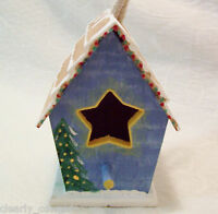 #B0108 - INDOOR DECORATIVE BIRDHOUSE HOLIDAY WREATH STAR HAND-PAINTED -WOW!