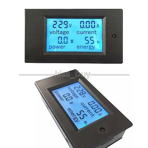 Ac Power Meter : A ac digital led power meter monitor energy