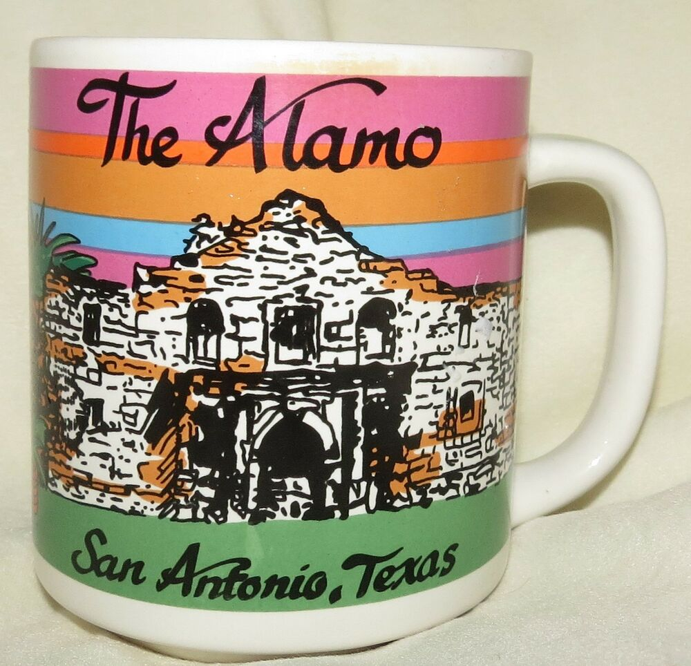 The Alamo San Antonio Texas Souvenir Coffee Mug Ebay