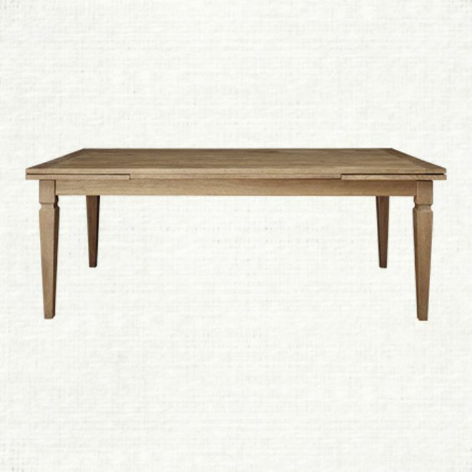 Arhaus Luciano 80 Opens To 120 Oak Rectangle Dining Table