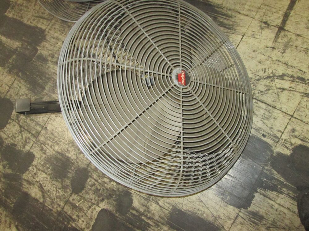 Dayton Exhaust Fan 3c218c 24 Quot Fan 1 Speed Motor 9k972 1