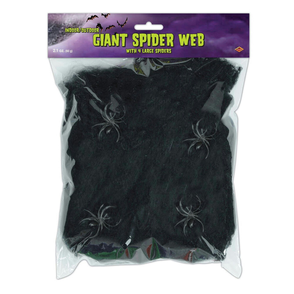 Giant Black Spider Web Decoration Creepy Webbing  eBay