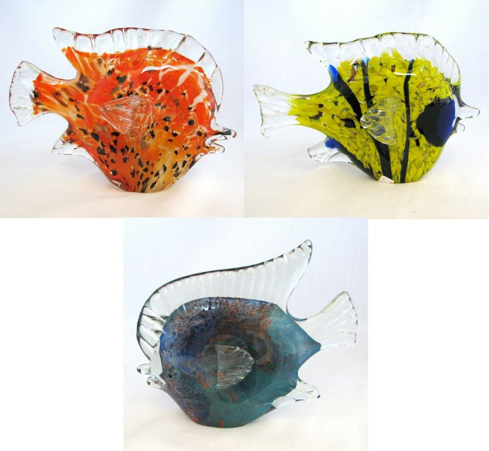 New murano style art piece glass work fish animal for Piece of fish