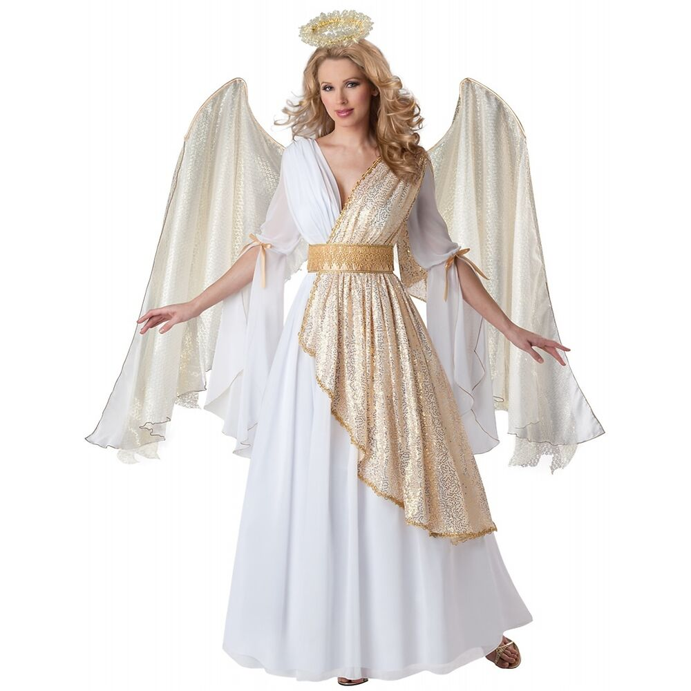 Angel Costume Adult Christmas Nativity Fancy Dress | eBay