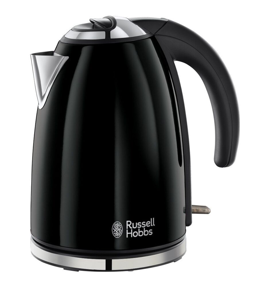 Russell Hobbs Jet Black Electric Kettle Stainless Steel 1