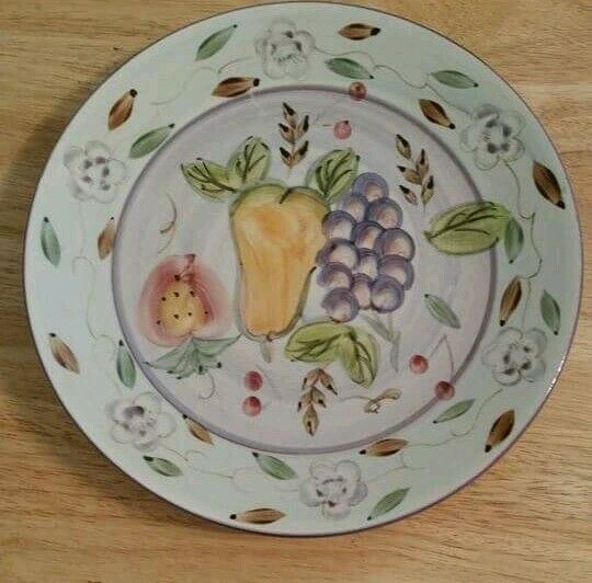 Pre Owned Gibson Hand Painted Detailed Kitchen Decor Plate