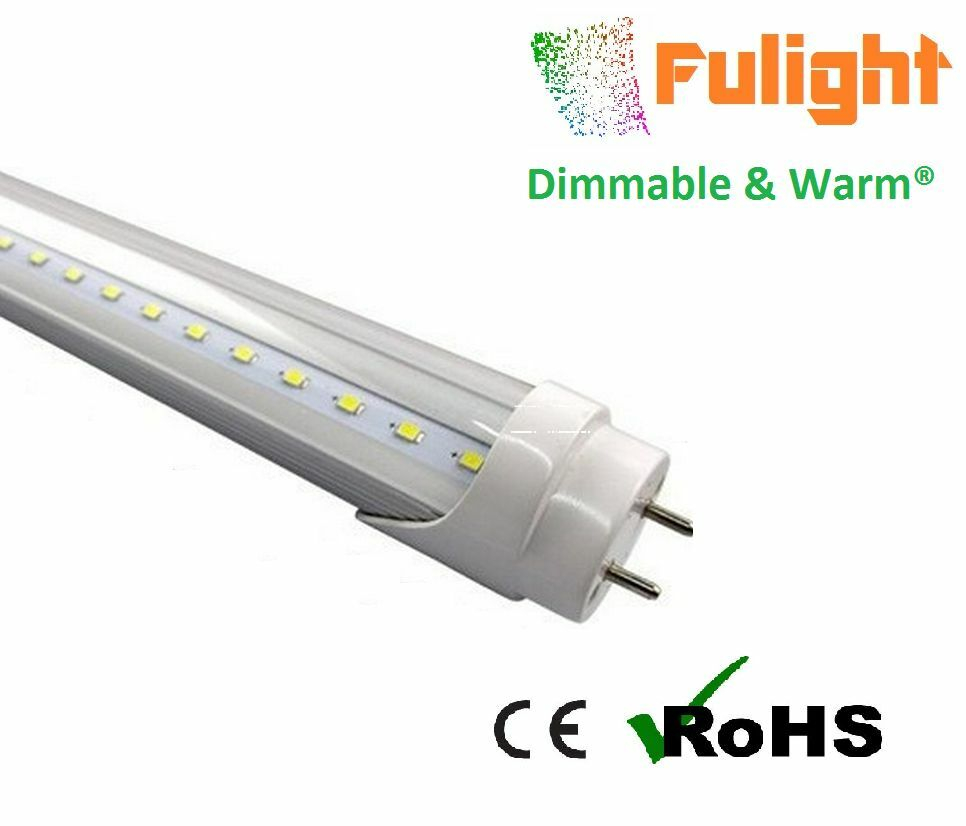 "DIMMABLE Clear G13 T8 4FT 48"" Warm 18W Fluorescent"