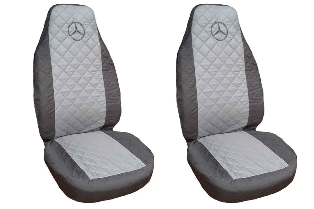 front seat covers mercedes a b c e class vito viano sprinter black grey ebay. Black Bedroom Furniture Sets. Home Design Ideas