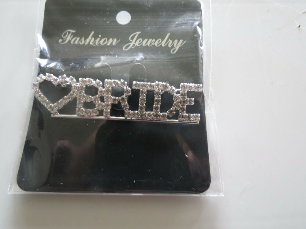 Wedding Gifts For Bride Ebay : ... Bride Pin Brooch For Bridal Shower Wedding Party **Great Gift** eBay