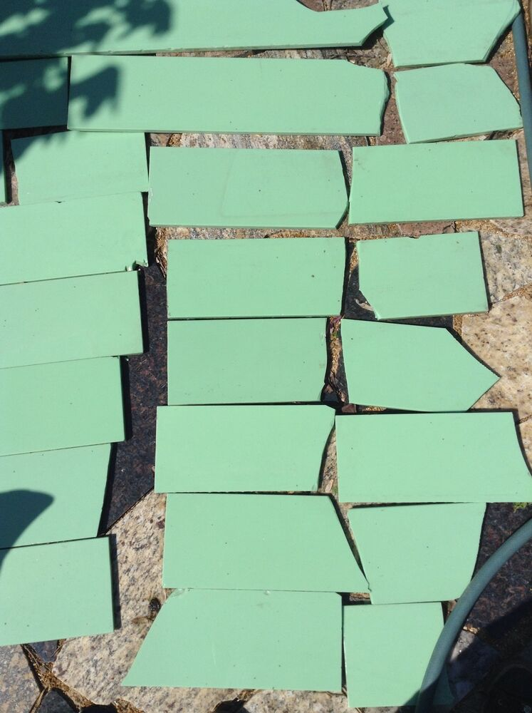 Antique Vintage Vitrolite Glass Tile Jadeite Green Mantle