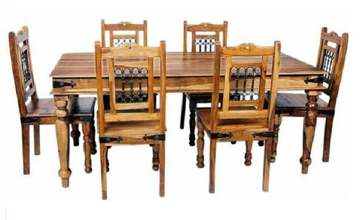 Mercers Furniture Indian Jali 170cm Dining Table And 6 Chairs EBay