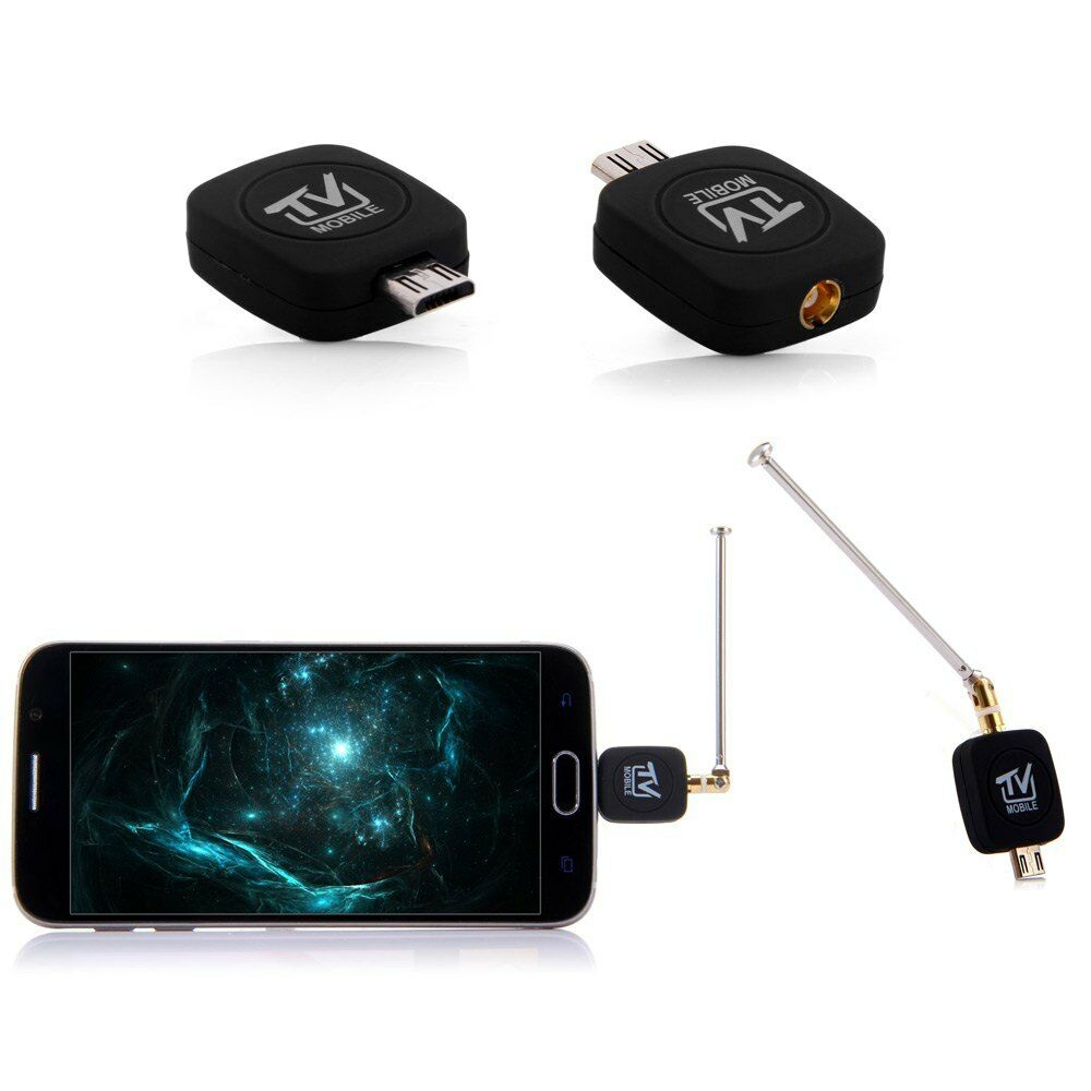 micro usb dvb t tv stick dongle with antenna for android. Black Bedroom Furniture Sets. Home Design Ideas