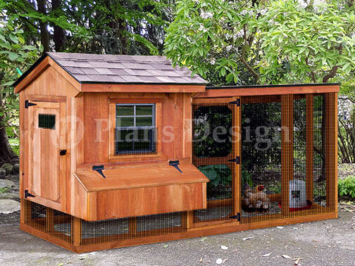 Chicken coop plans with kennel run material list included design 60410sl ebay for Hen house design plans