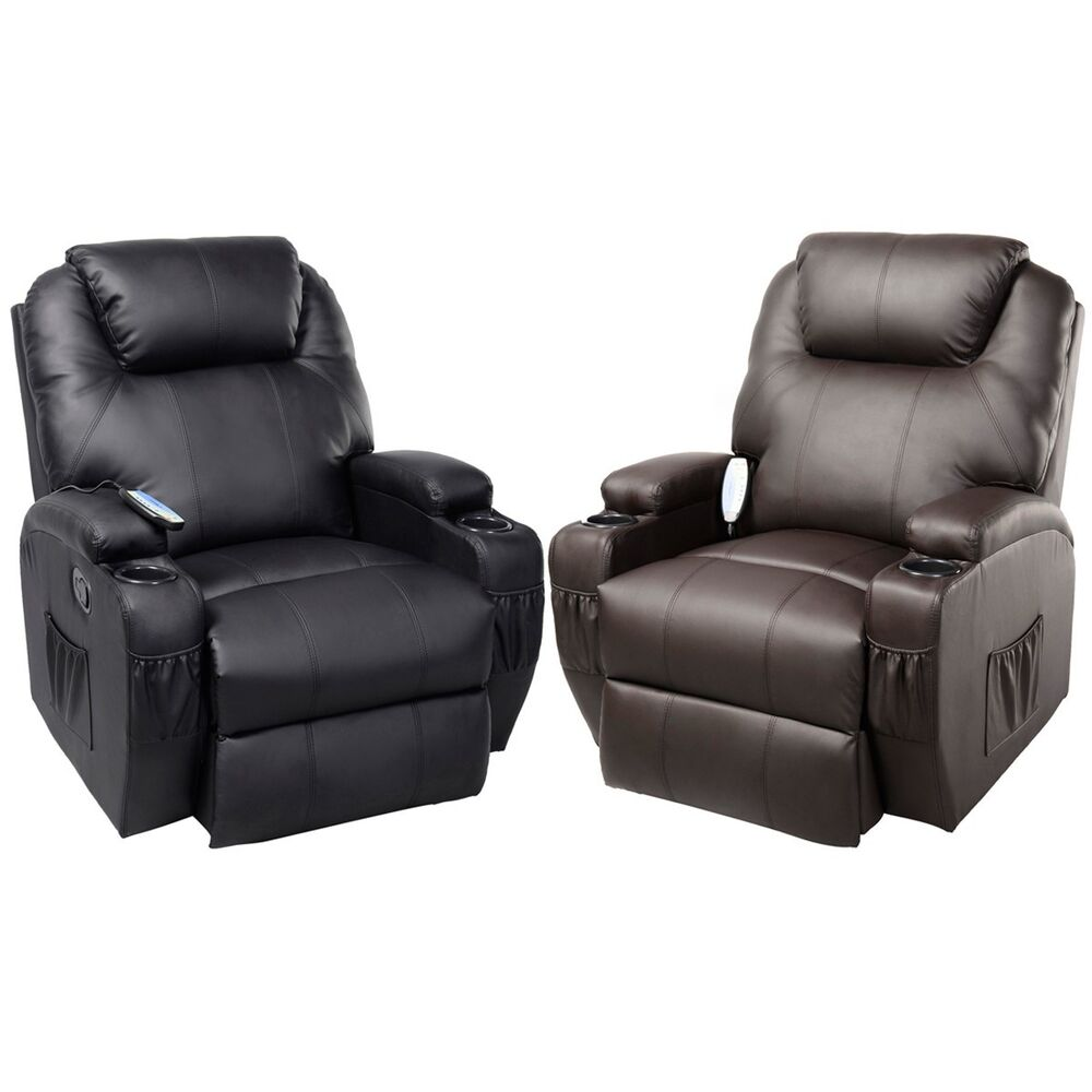 Ergonomic Heated Massage Recliner Sofa Chair Deluxe Lounge Executive W Control Ebay