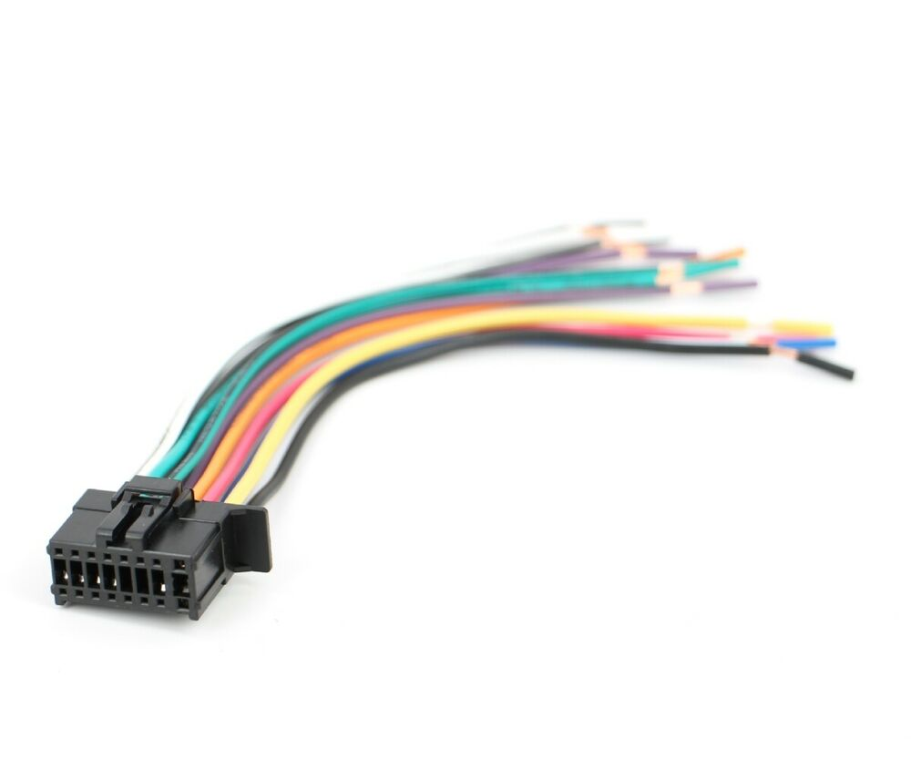 Xtenzi 16 Pin Radio Wire Harness For Pioneer Fh X720bt X520ui Deh X55hd Wiring Diagram More Ebay