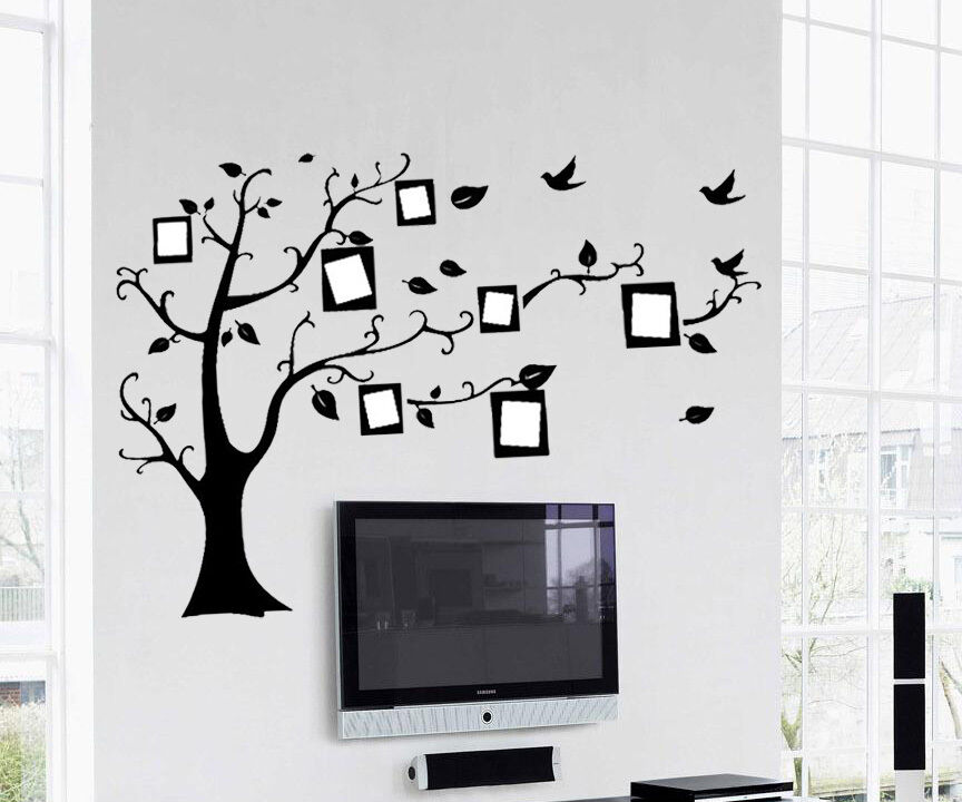 New diy family tree removable vinyl decal art mural home for Diy family tree wall mural