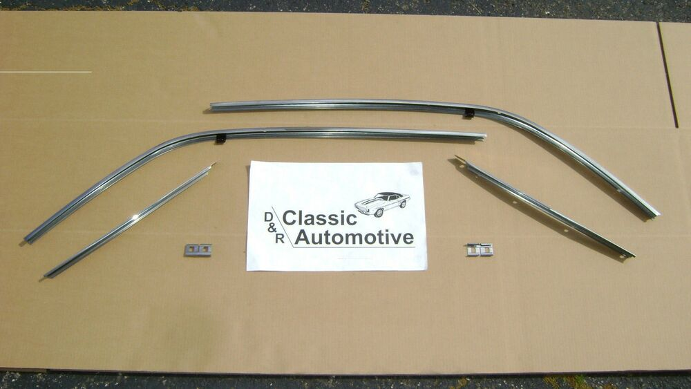 Roof Rail Stainless Trim Weatherstrip Channels 67 Camaro