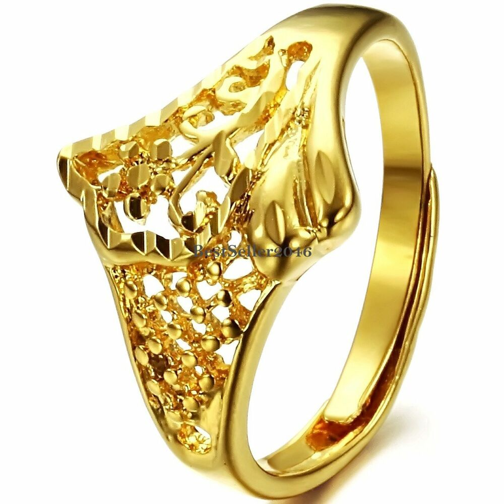 yellow gold tone ladies promise ring engagement wedding. Black Bedroom Furniture Sets. Home Design Ideas