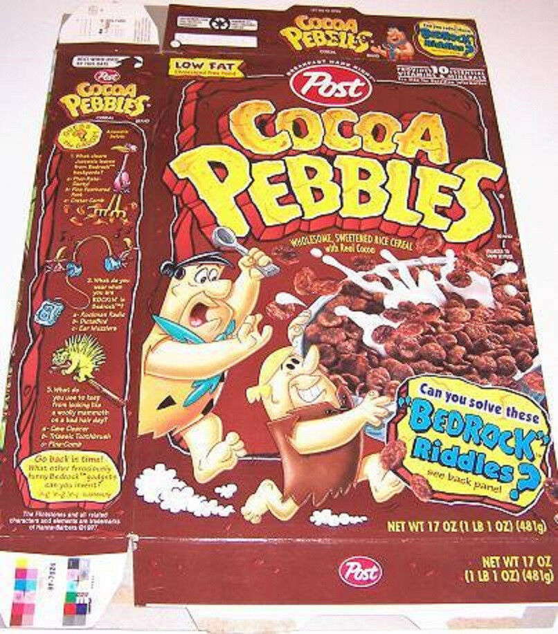 1997 Cocoa Pebbles Cereal Box Ee060 N