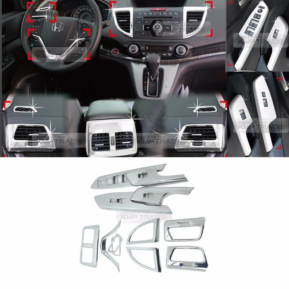 chrome interior air duct window switch audio molding c388 for honda 2012 16 cr v ebay. Black Bedroom Furniture Sets. Home Design Ideas