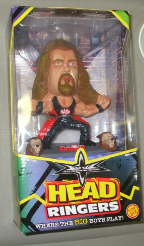Toy Figures For Boys : Toy biz wcw head ringers kevin nash inch wrestling