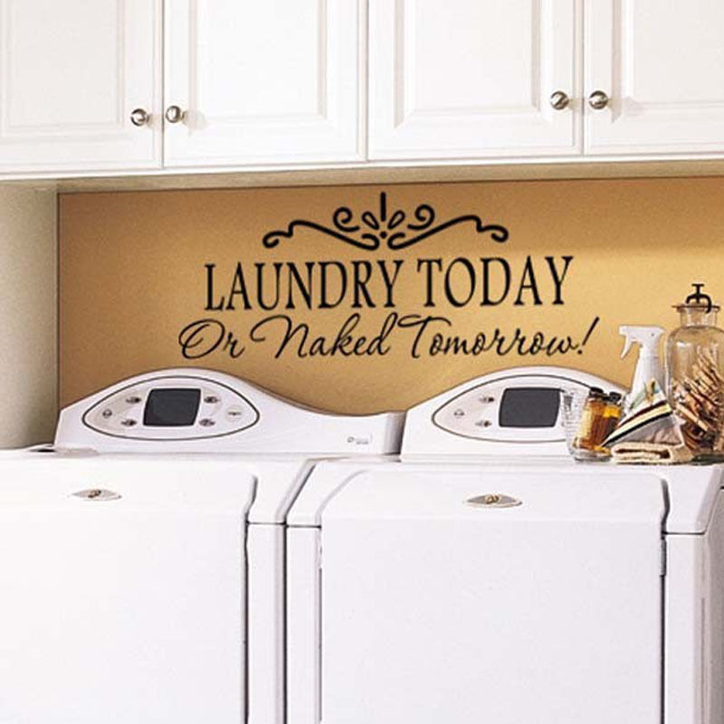 Laundry Today DIY Removable Vinyl Decal Art Mural Home
