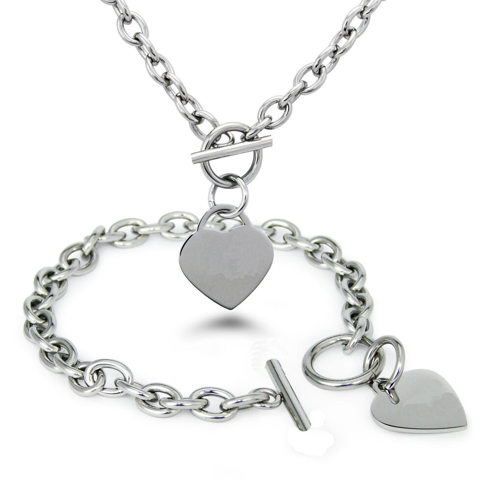 Fashion silver stainless steel heart pendant womens chain for Stainless steel jewelry necklace