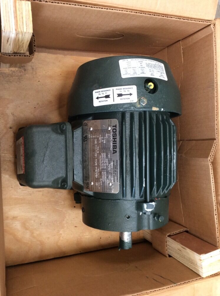 Toshiba 2 hp induction motor b0024flt3bmhj 460 volt 1735 for 1 2 hp induction motor