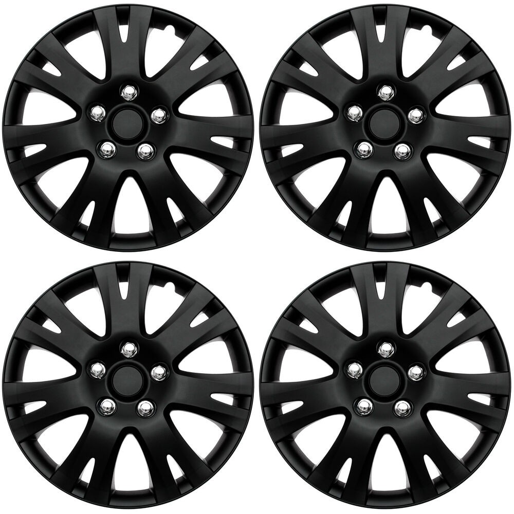 4 pc set of 16 matte black hub caps for oem steel wheel cover 2017 VW Tiguan 4 pc set of 16 matte black hub caps for oem steel wheel cover center cap covers 643129815652 ebay