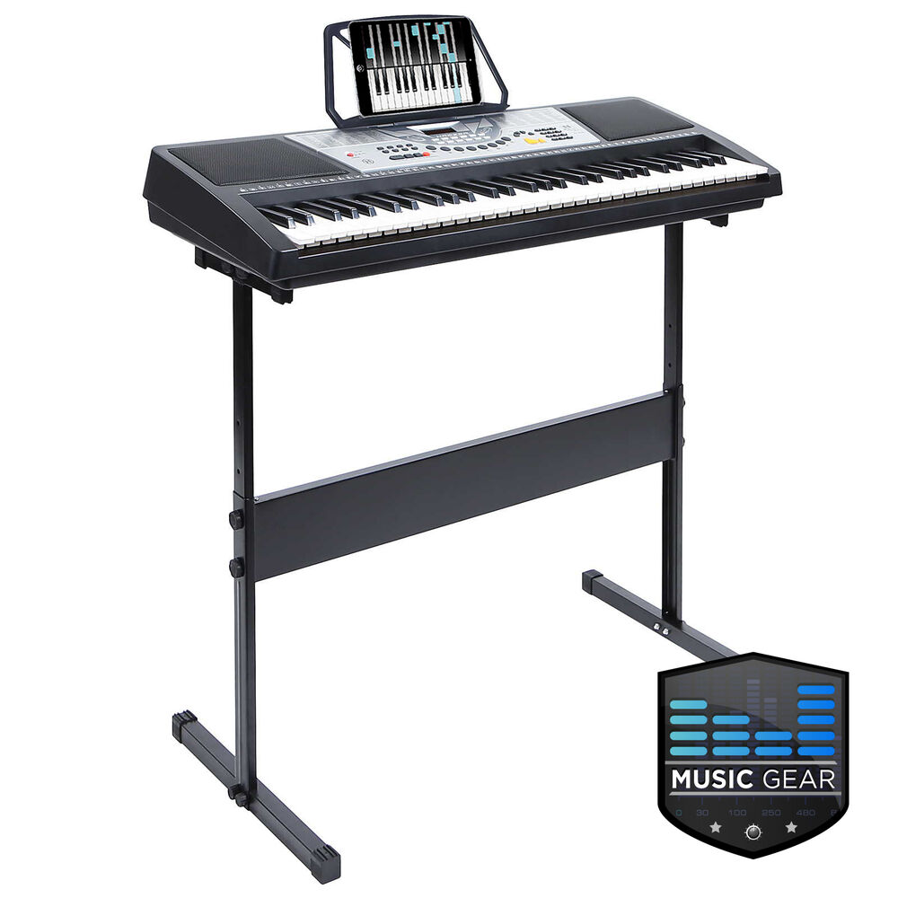61 Key Electronic Piano Electric Organ Keyboard With Stand