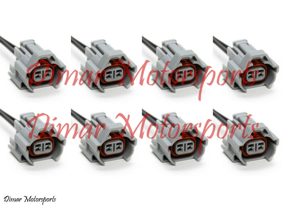 High Impedance Denso Female to EV6 Male Fuel Injector Connector Adapters 4