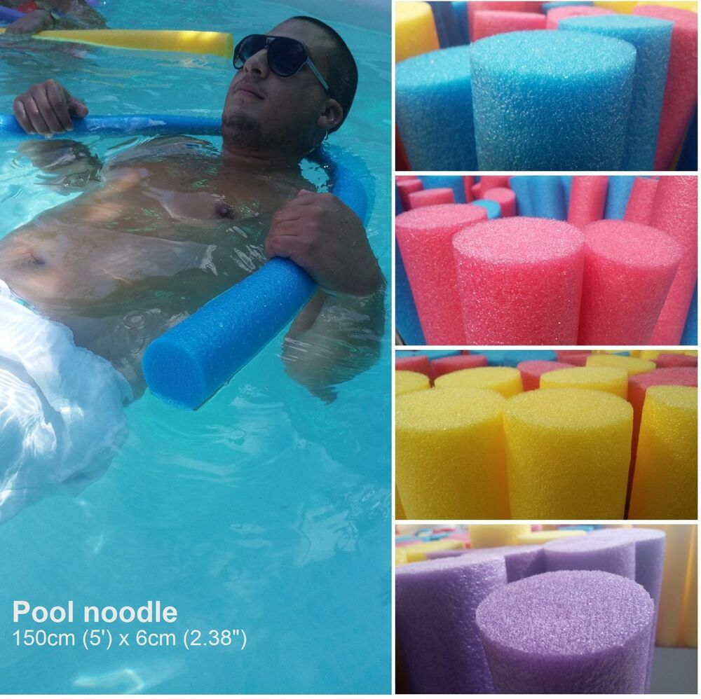 Pool Noodle Water Floating Foam Therapy Swimming Aid Fun Blue Purple Yellow Red Ebay
