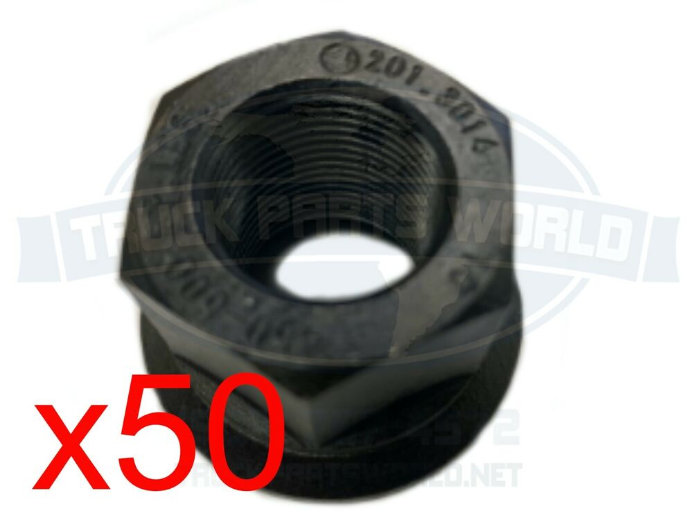 50 Two Piece Flanged Metric Wheel Nuts M22x1 5 33mm For