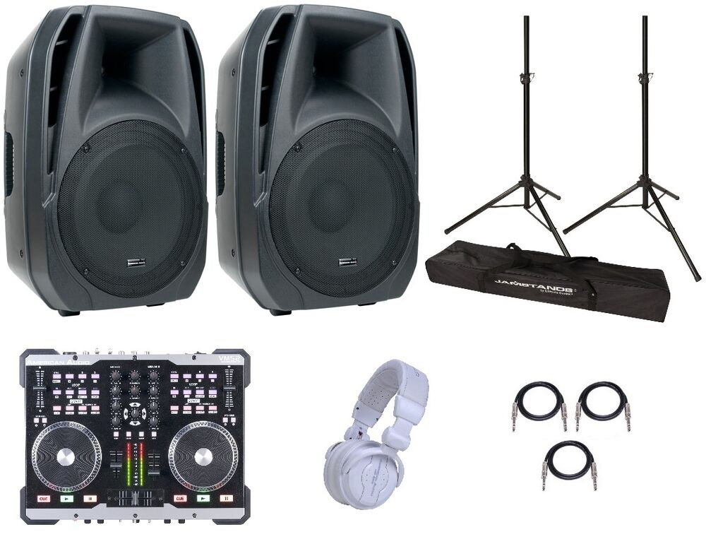 dj starter package dj equipment parties events ebay. Black Bedroom Furniture Sets. Home Design Ideas