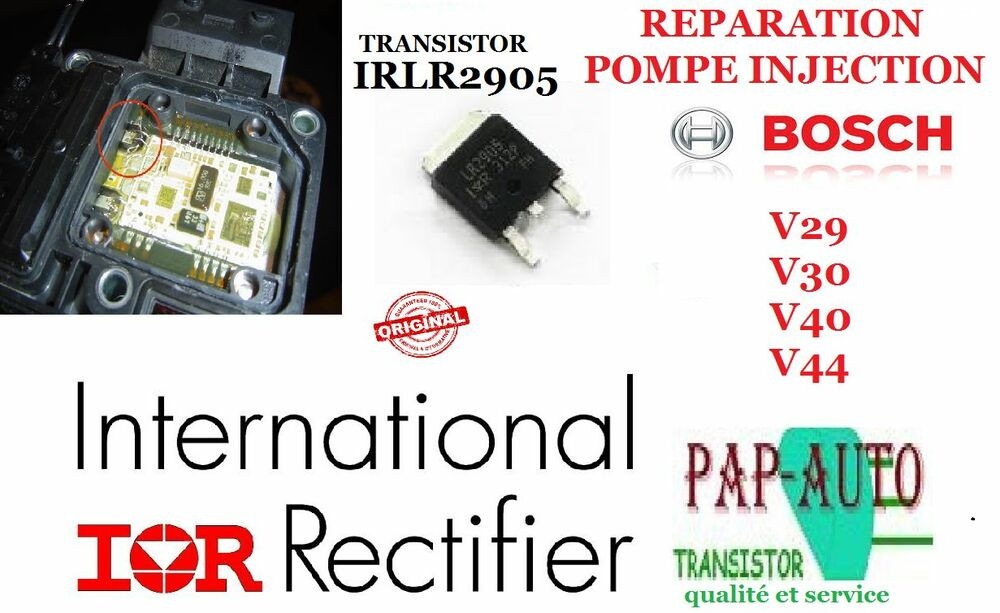 r paration pompe injection bosch vp44 vp29 vp30 irlr2905 transistor mosfet ebay. Black Bedroom Furniture Sets. Home Design Ideas