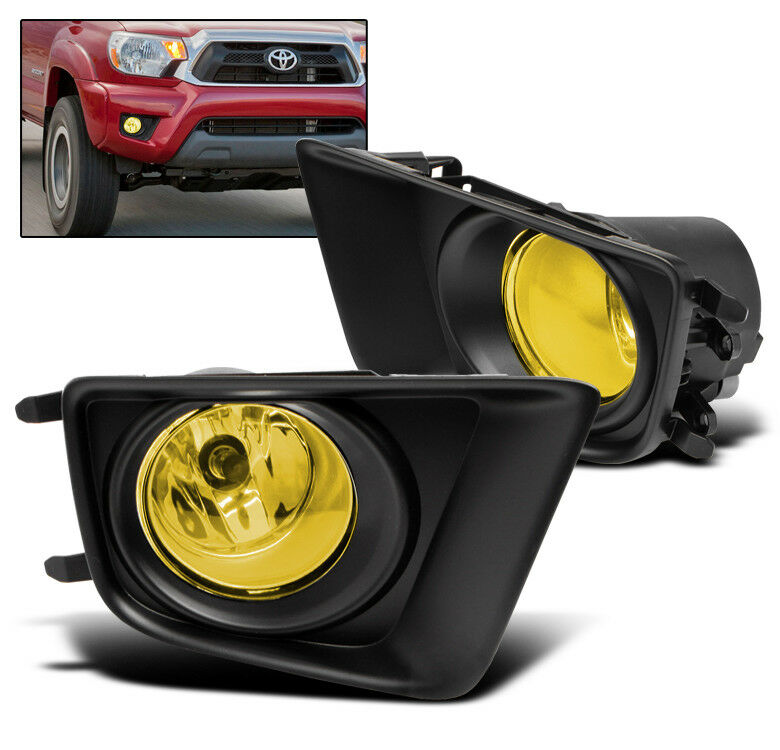 2012 2015 toyota tacoma yellow lower driving fog light lamp w harness. Black Bedroom Furniture Sets. Home Design Ideas