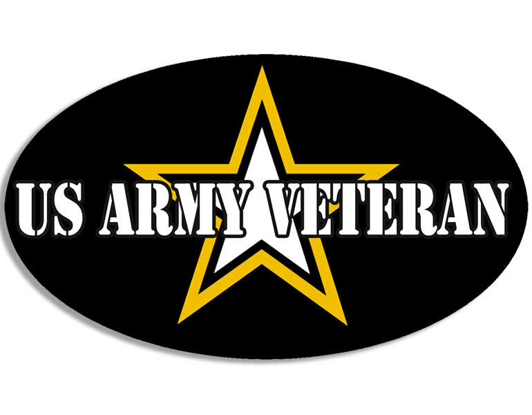 3x5 inch Oval US ARMY Veteran Sticker - logo decal vet ...
