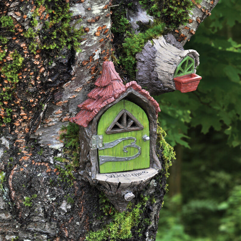 Gnome Garden: Fairy Landing Pad Set/2 For Hanging On Tree Miniature