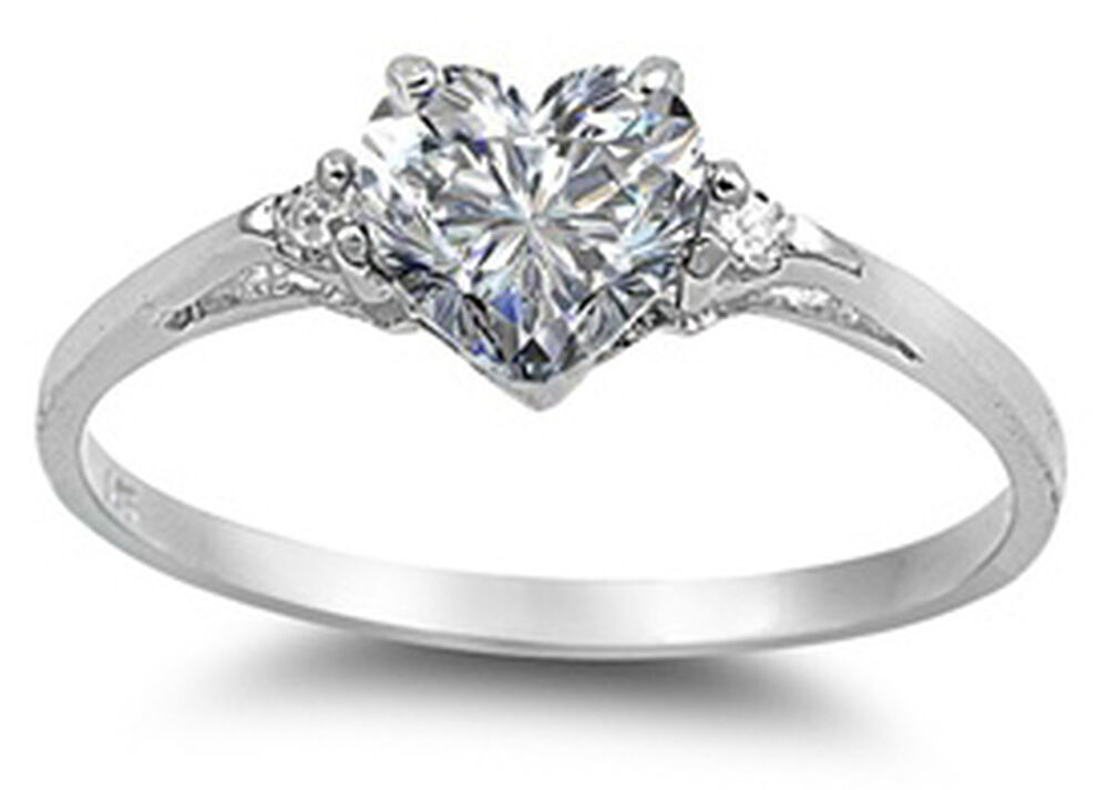 925 Pure Sterling Silver Cz Heart Solitaire Engagement. Lord Ring Rings. Necklace Wedding Rings. Tri Color Wedding Rings. Coloured Engagement Rings. Cushion Cut Engagement Engagement Rings. Nerdy Engagement Rings. Olympic Rings. Template Rings