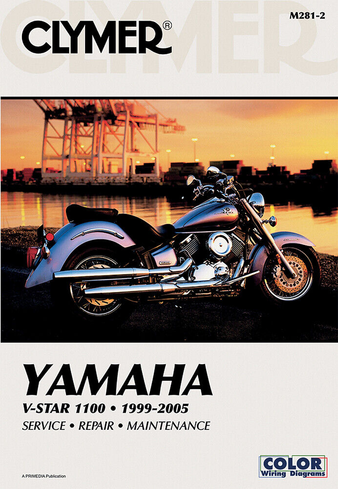 details about clymer repair manual for yamaha vstar v-star 1100 custom  classic 1999-2009