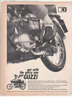 1967 Moto Guzzi 125 125cc Sport Vintage Motorcycle Ad cafe racer
