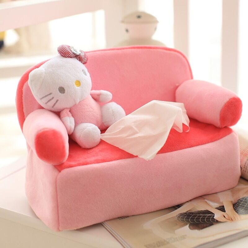Http Www Ebay Com Itm Hellokitty Kitty Cat On Sofa Plush Tissue Box Cover Car Accessories Home Decor 271904385703
