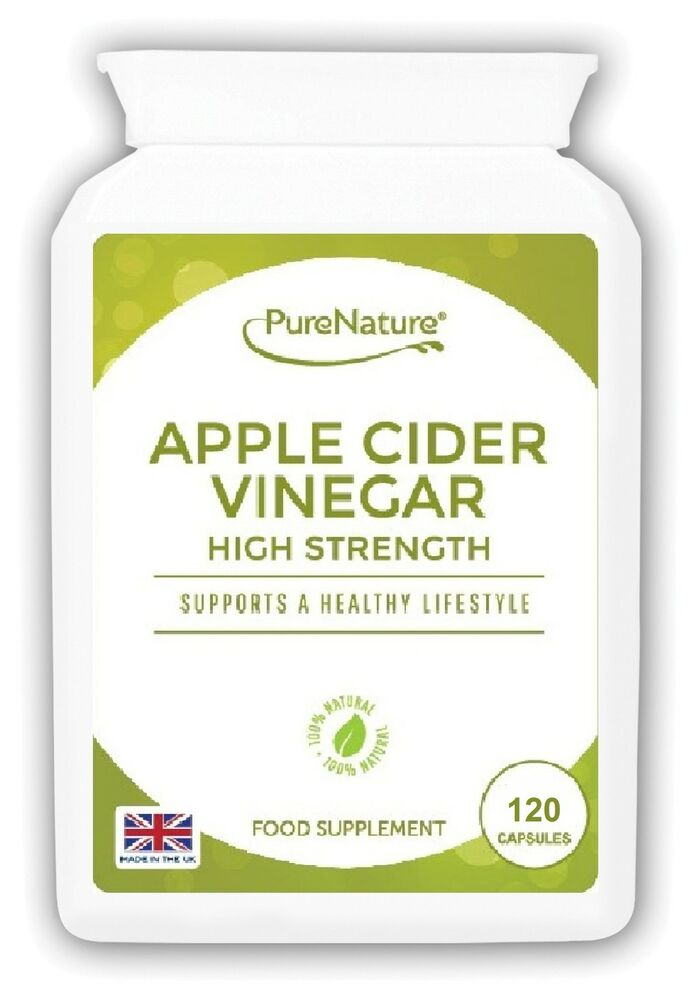 Apple Cider Vinegar 120 High Strength Capsules Diet Weight