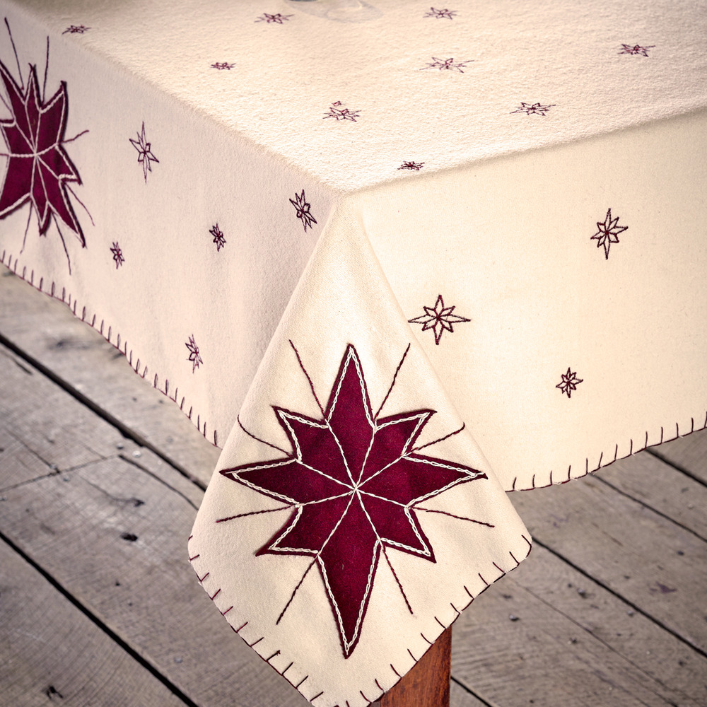 Burlap Merlot Tablecloth 40x40 Country Primitive Great For