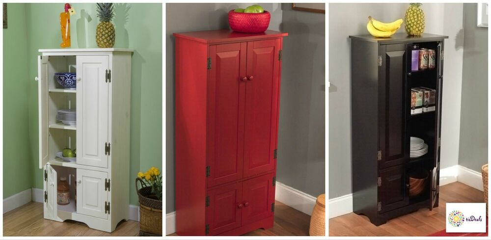 Tall kitchen pantry cabinet storage bath laundry room organizer cupboard buffet ebay - Tall kitchen storage cabinet ...