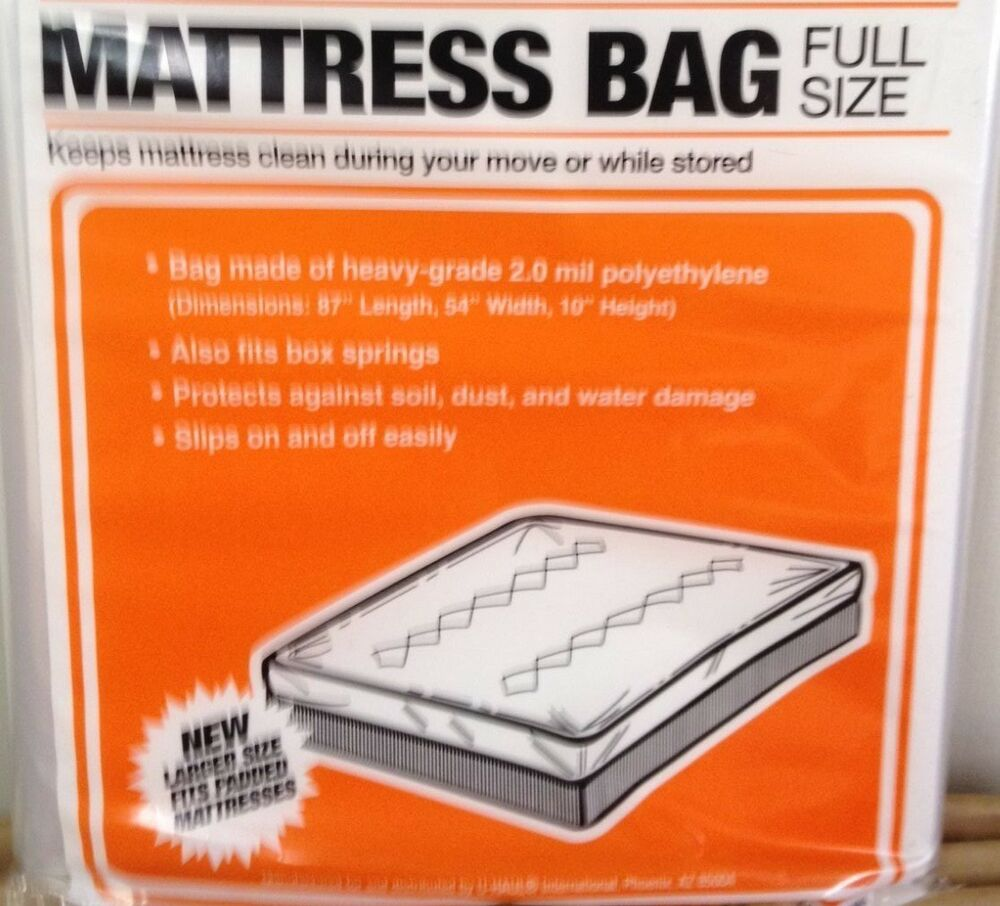 New Full Size Mattress Box Spring Bag For Moving Storage